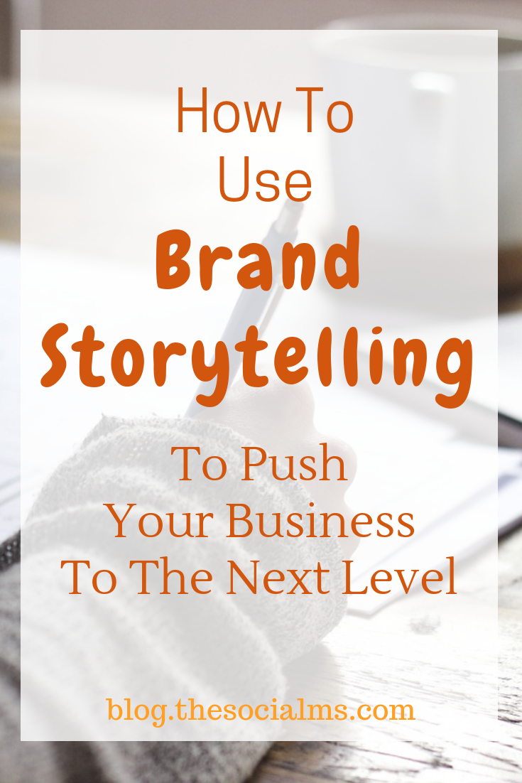 Brand storytelling can help you sell online. The right story told at the right time is a very powerful marketing instrument. Learn how to use your brand's stories to connect to your audience and make more sales. If you are blogging as a business brand storytelling is crucial for your success. #bloggingtips #onlinebusiness #makmoneyblogging #bloggingforbeginners