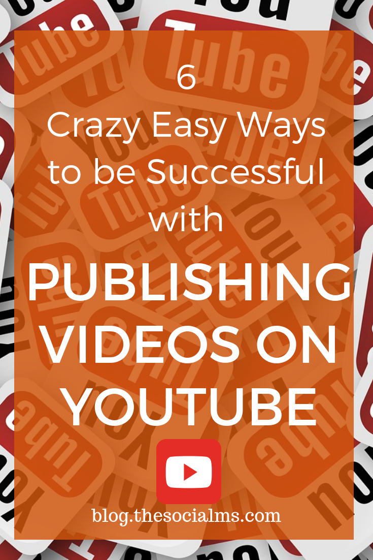 Publishing on YouTube can have a huge effect on your marketing results. These 6 tips help you get more out of your video publishing efforts. These tips will help you to be more successful with publishing videos on Youtube. #youtube #youtubemarketing #youtubepublishing #youtubesuccess