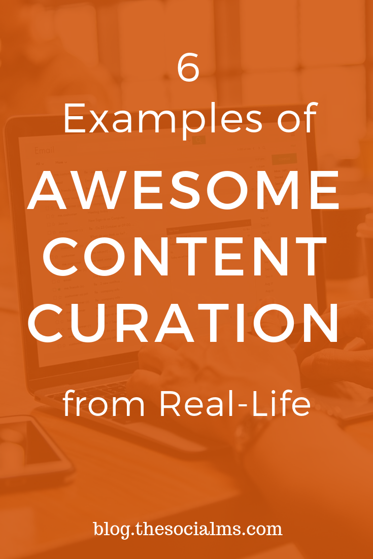 These examples of real life content curation to inspire thoughts and discussions about what content curation really is and how it can and should be used. Get inspiration from examples of content curation that you have experienced in your daily life. #contentcuration #contentmarketing #socialmediatips #onlinemarketing
