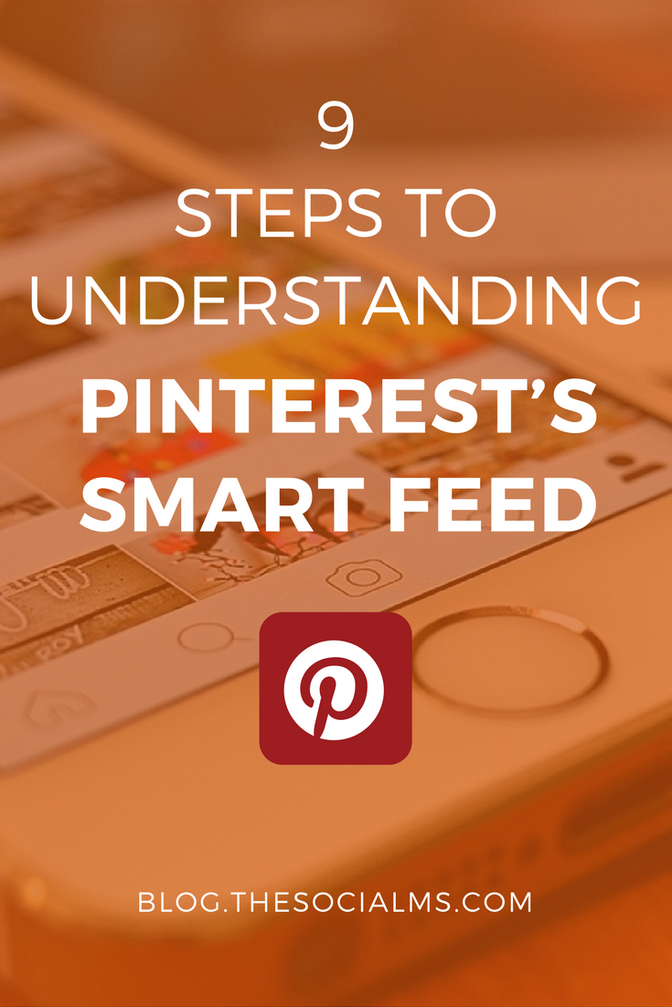 "Pinterest's ""old"" chronological feed that only showed updates from people we follow is gone. Instead what we see is Pinterest's Smart Feed. pinterest marketing tips, pinterest feed, pinterest smart feed, pinterest tips"