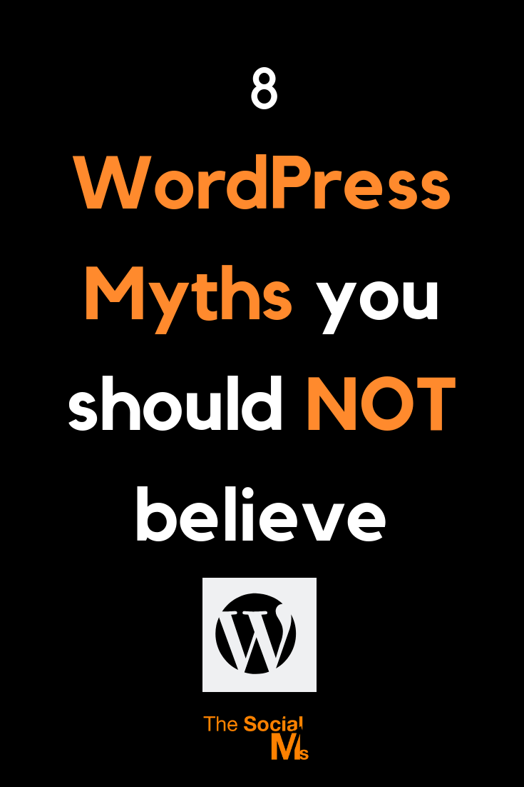WordPress is the most popular CMS platform in the world. Here are some popular WordPress myths which you can't afford to ignore. Here are some WordPress facts you should be aware of. #wordpress #bloggingtips #startablog #onlinebusiness