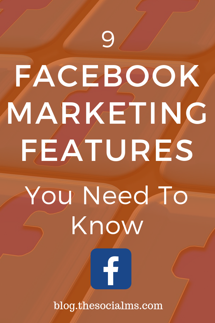 Every social network evolves and develops new features for customers. Here are 9 Facebook marketing features you need to know for more Facebook marketing success. Use thee Facebook marketing tips #facebook #facebookmarketing #facebooktips #facebookfeatures #facebookstrategy
