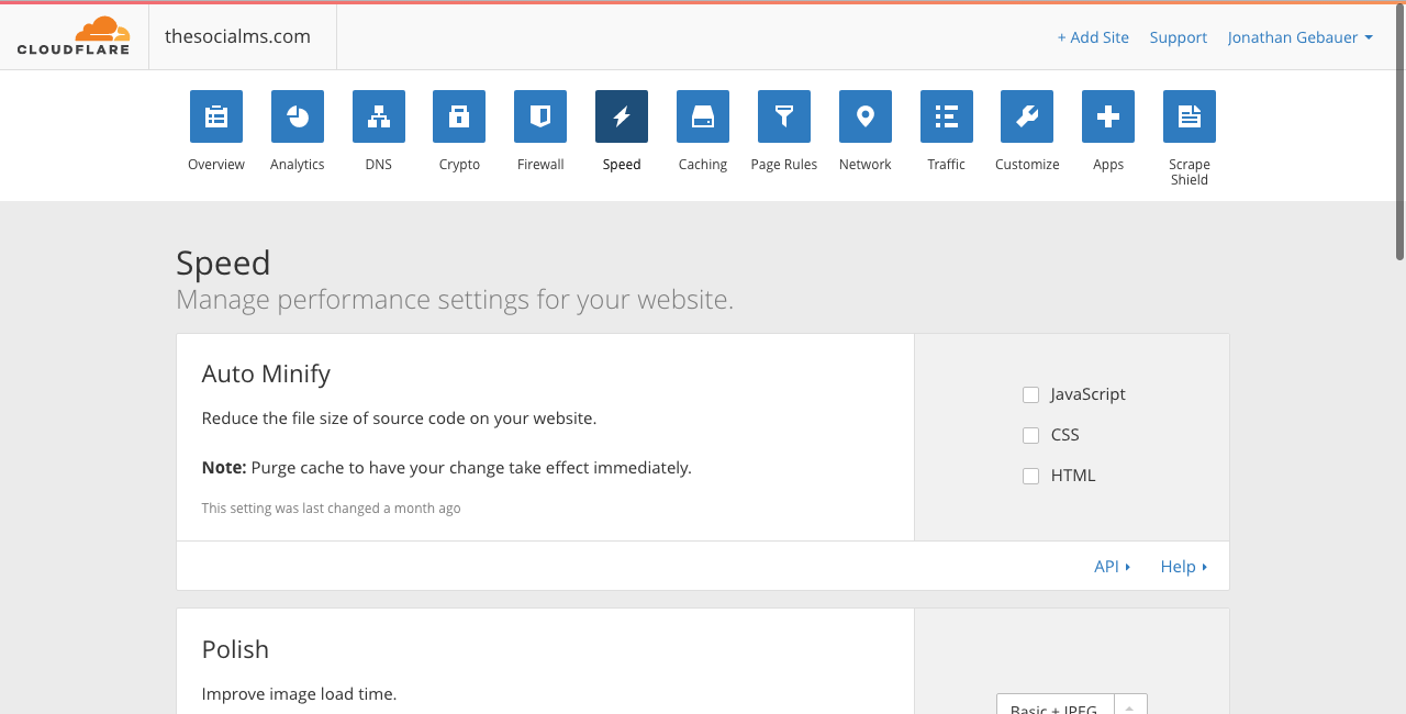Cloudflare page speed