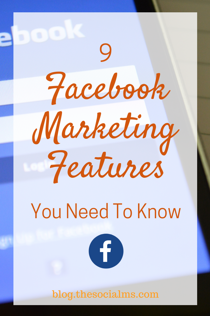 As marketers, we all have to know what is happening - and make educated decisions on what features to use and how. Here are 9 Facebook marketing features you need to know #facebook #facebooktips #facebookmarketing #facebookfeatures #socialmedia #socialmediatips #socialmediamarketing
