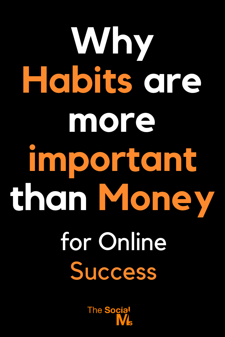 Striving for online success is like striving for fitness - you won't get fit without training regularly, and you won't succeed if you don't develop habits. #bloggingsuccess #bloggingtips #onlinebusiness #startablog #bloggingforbeginners