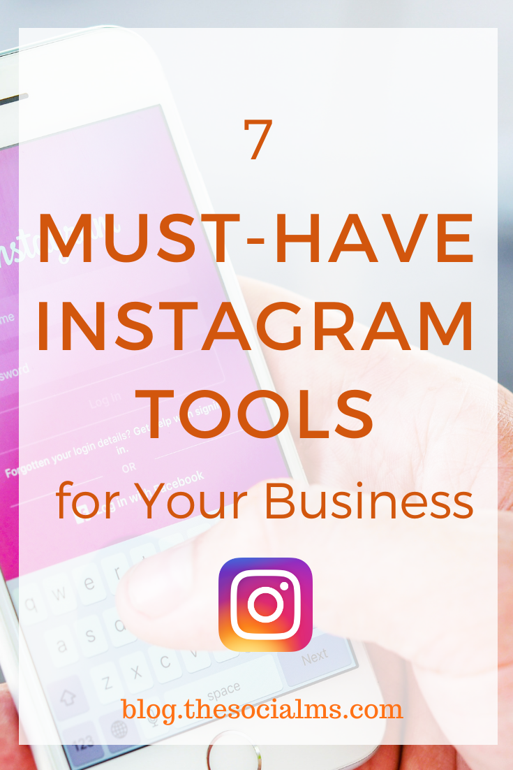 If you are using Instagram to grow your business, you should consider adding these seven tools to your toolbox. #instagram #instagramtips #instagramtools #instagrammarketing #socialmedia #socialmediamarketing #socialmediatips