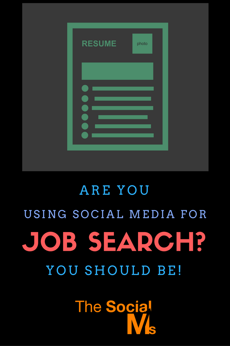 Using social media to get your next job
