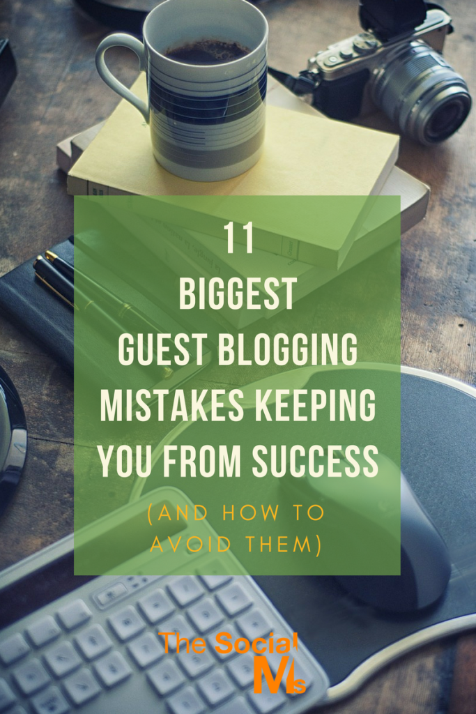 There is more to guest blogging than getting a post published on another blog. Seemingly small guest blogging mistakes lead to frustration and failure.