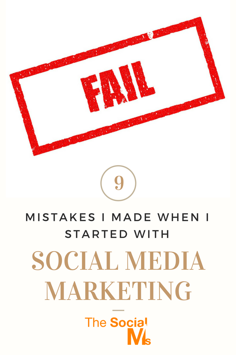 When you are active in social media marketing you will make mistakes, Here are 9 mistakes I made that you can learn from.