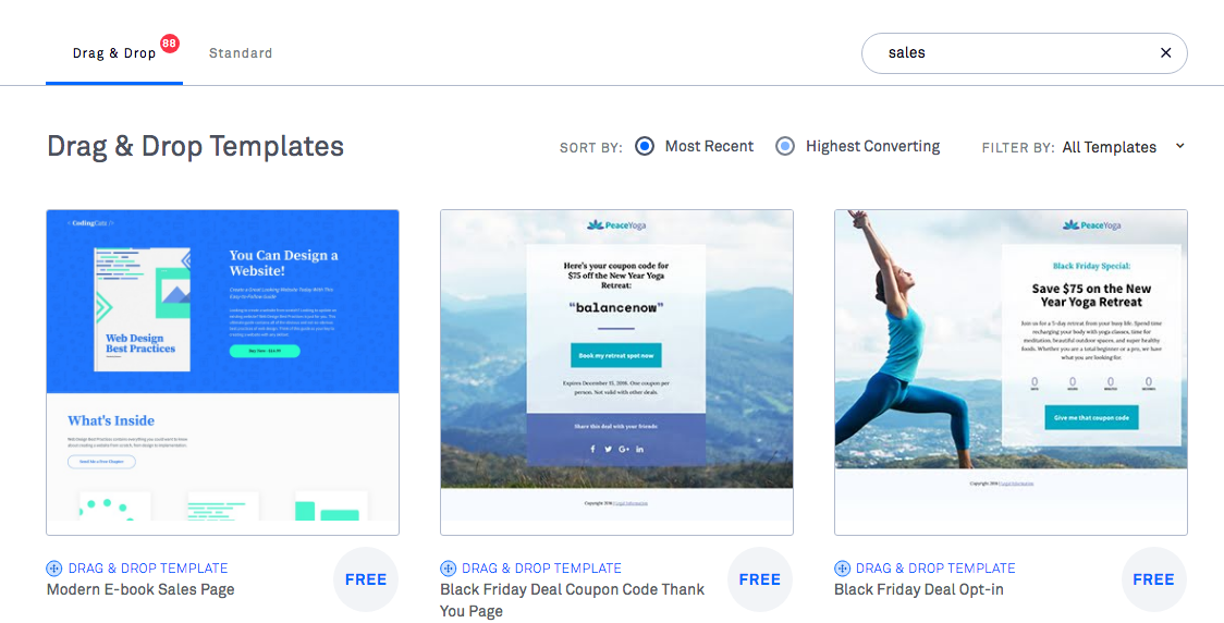 Sales Pages LeadPages