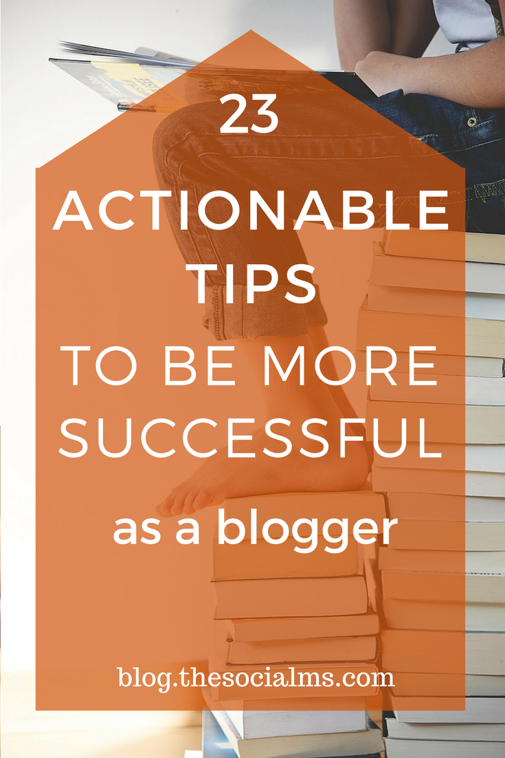 Plenty of actionable tips that you can use to get more out of your blogging efforts. Get your blog on the way to blogging success with these tips! blogging tips, start a blog, grow a blog, successful blogging