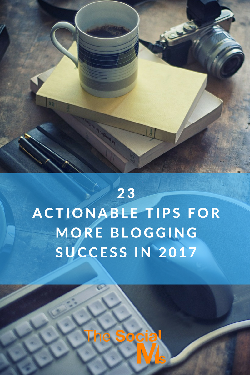 Plenty of actionable tips that you can use to get more out of your blogging efforts. Get your blog on the way to blogging success with these tips!