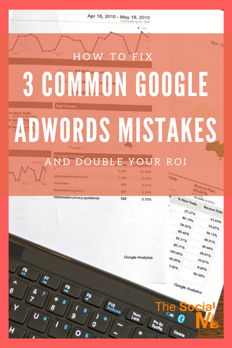 Here are 3 ways to fix common Google AdWords mistakes and double your ROI! Many businesses end up spending thousands of dollars to end up with nothing.