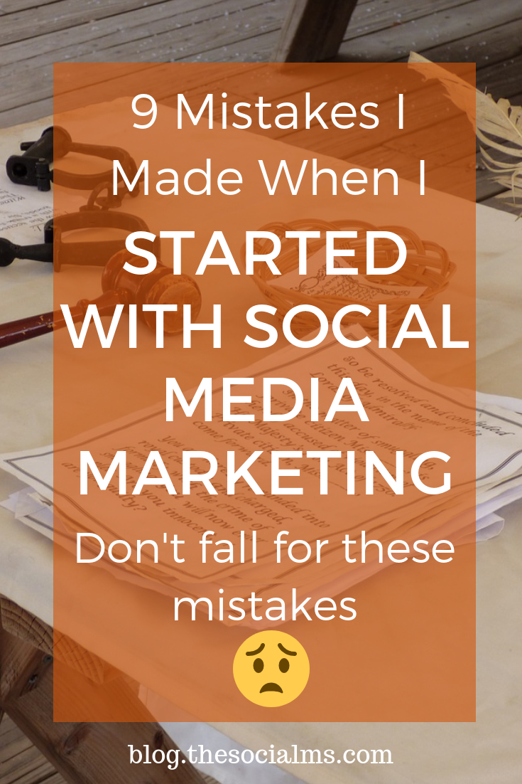 When you are active in social media marketing you will make mistakes, Here are 9 social media marketing mistakes I made that you can learn from. We got some bad social media advice and we were totally at a loss to decide which social media tips were good and which would lead to awful mistakes. #socialmediamarketing #socialmediamistakes #marketingmistakes #socialmediatips