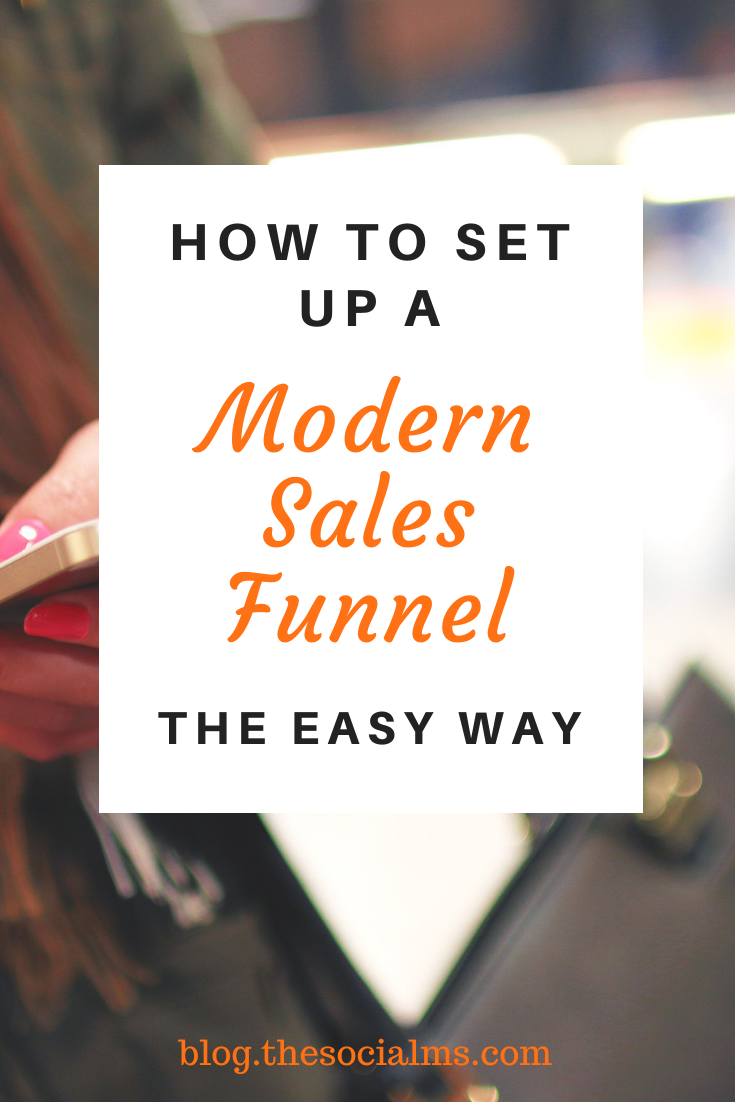 A modern sales funnel for online businesses has a few key elements that I'm going to talk about in this article. You will learn how to set up a sales funnel for your blog or online business #onlinebusiness #salesfunnel #leadgeneration #emailmarketing