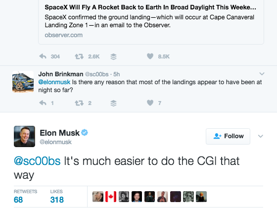 Musk Marte razzo