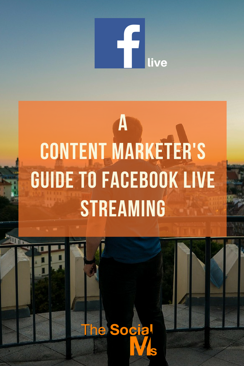 how to streaming video through facebook live