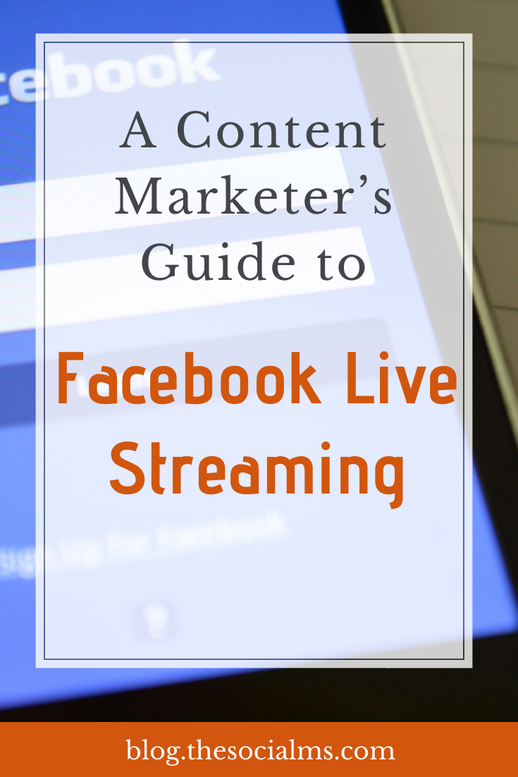"""Facebook live videos offer benefits to those who leverage it properly. From a marketer's point of view, Facebook Live is a great way to allow your followers and customers to """"take a peek inside"""". Here is how to use Facebook live streaming for your content marketing. #facebook #facebooklive #socialmedia #socialmediatips #contentmarketing"""