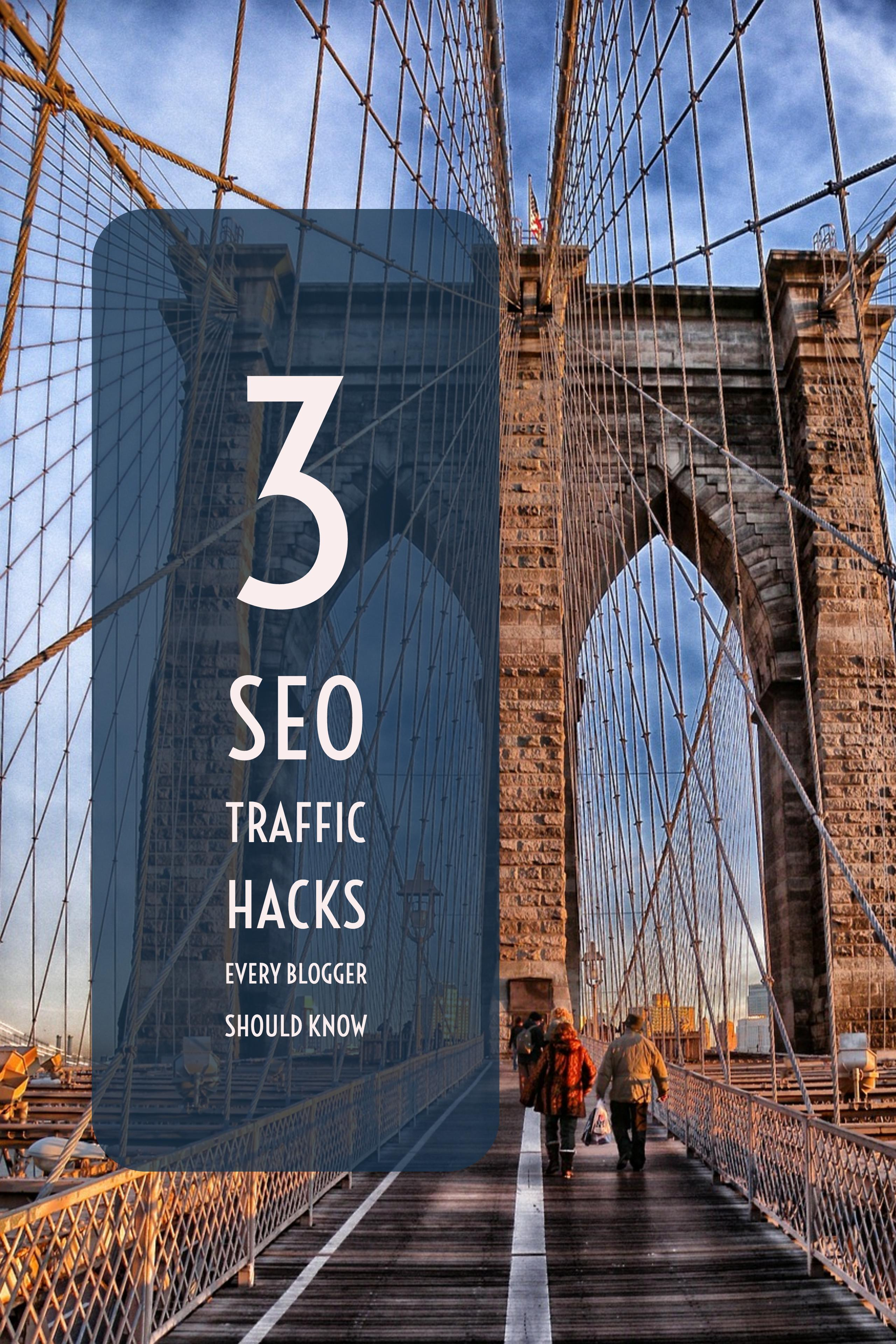 Here are the 3 best SEO Traffic Hacks I know that can push every blog to the top of Google's result pages!
