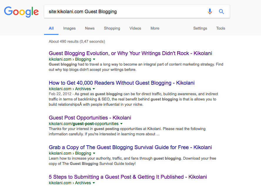 Google Site Search - SEO traffic hacks