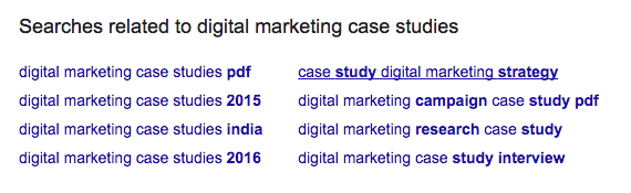 Related Searches - Digital Marketing Case Studies