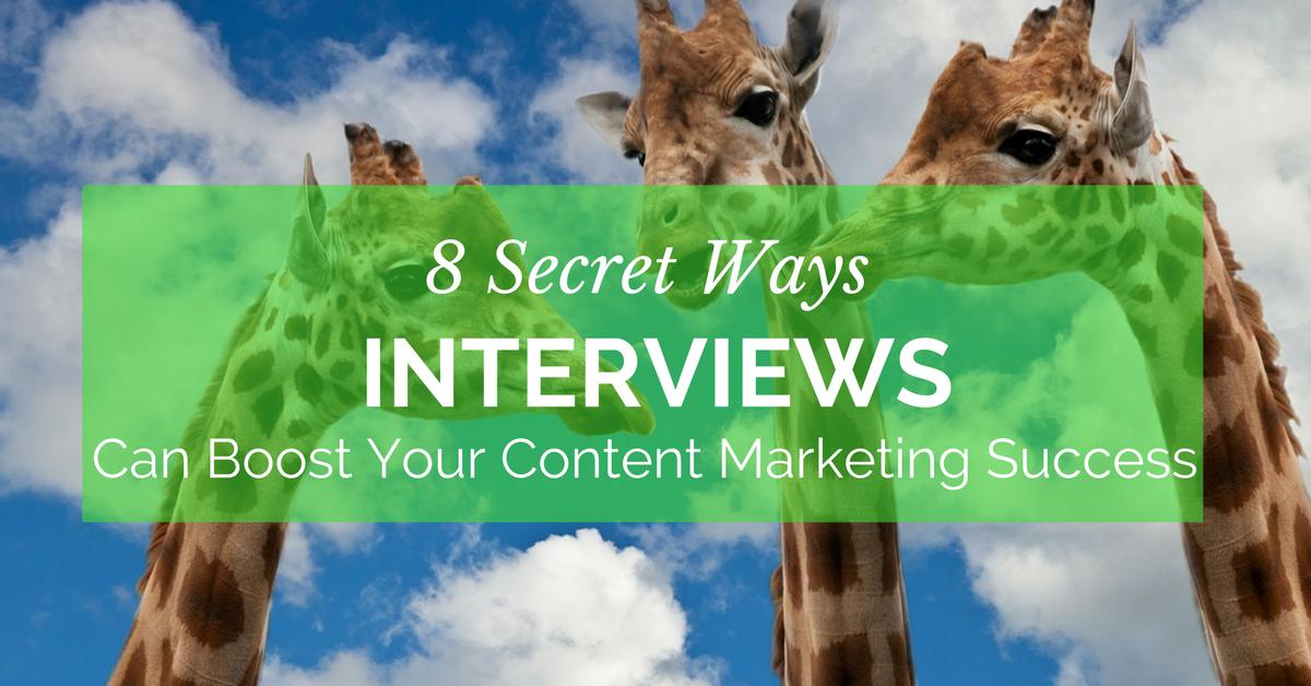blog.thesocialms.com - Susanna Gebauer - 8 Secret Ways Interviews Can Boost Your Content Marketing Success