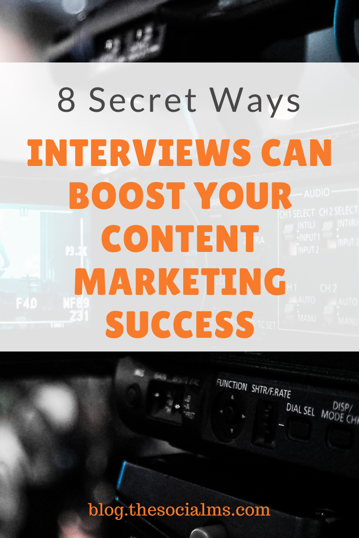 what makes interviews so powerful for social media and content marketing?  Here are my 8 favorite ways interviews can positively impact your content marketing success #blogpostcreation #blogwriting #contentcreation #contenttypes #contentmarketing #marketingstrategy