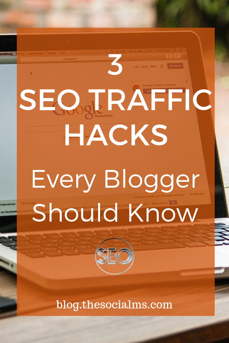 Seo for bloggers: Here are the best SEO traffic hacks for bloggers. Applied with care and regularly they will boost your blog traffic and your conversions! Build links and optimize your search rankings: get more blog traffic from Google search. #SEO #blogtraffic #searchengineoptimization #bloggingtips