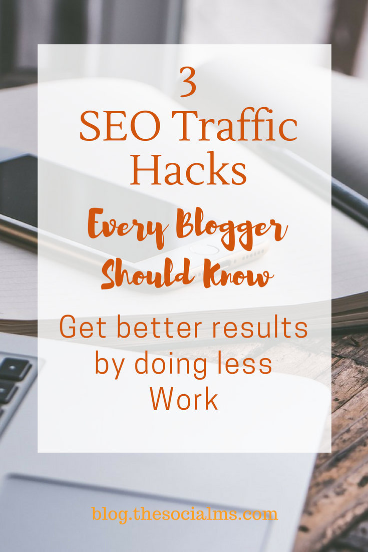 Seo for bloggers: Here are the best SEO traffic hacks for bloggers. Applied with care and regularly they will boost your blog traffic and your conversions! seo for bloggers, blog seo, increase traffic with seo, seo website traffic