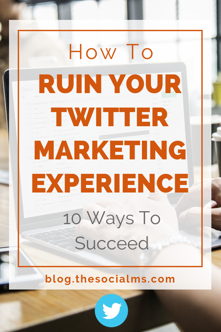 There are a lot of things that can ruin your twitter marketing experience. Here are the 10 most common Twitter mistakes that you can easily avoid. It could be so easy to get better results from your Twitter efforts. Learn what you need to do from these Twitter tips. #twittertips #twittermarketing #twittermistakes #twittersuccess