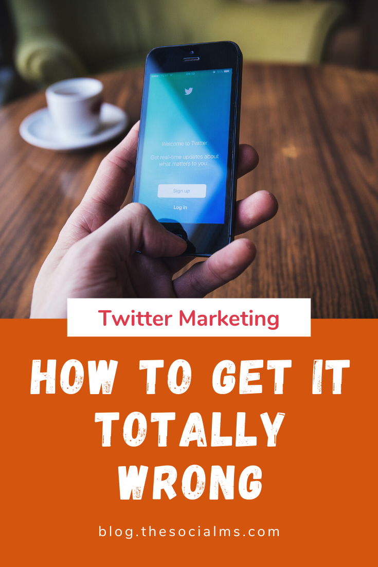 Twitter is the one social network where successful marketing seems to be a secret even to people that call themselves social media manager. There is so much that can go wrong. Here are 10 mistakes I see over and over again on accounts on Twitter that can totally ruin your Twitter marketing experience. #twitter #twittertips #twittermarketing #twitterstrategy #socialmedia #socialmediatips #socialmediamarketing