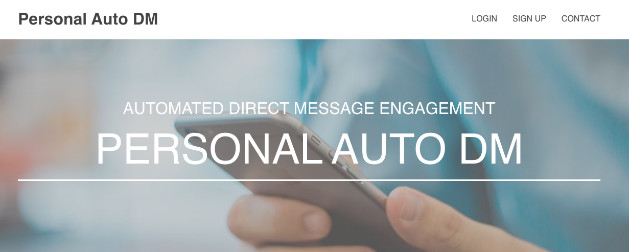 Personal Auto DM Messaging Tool