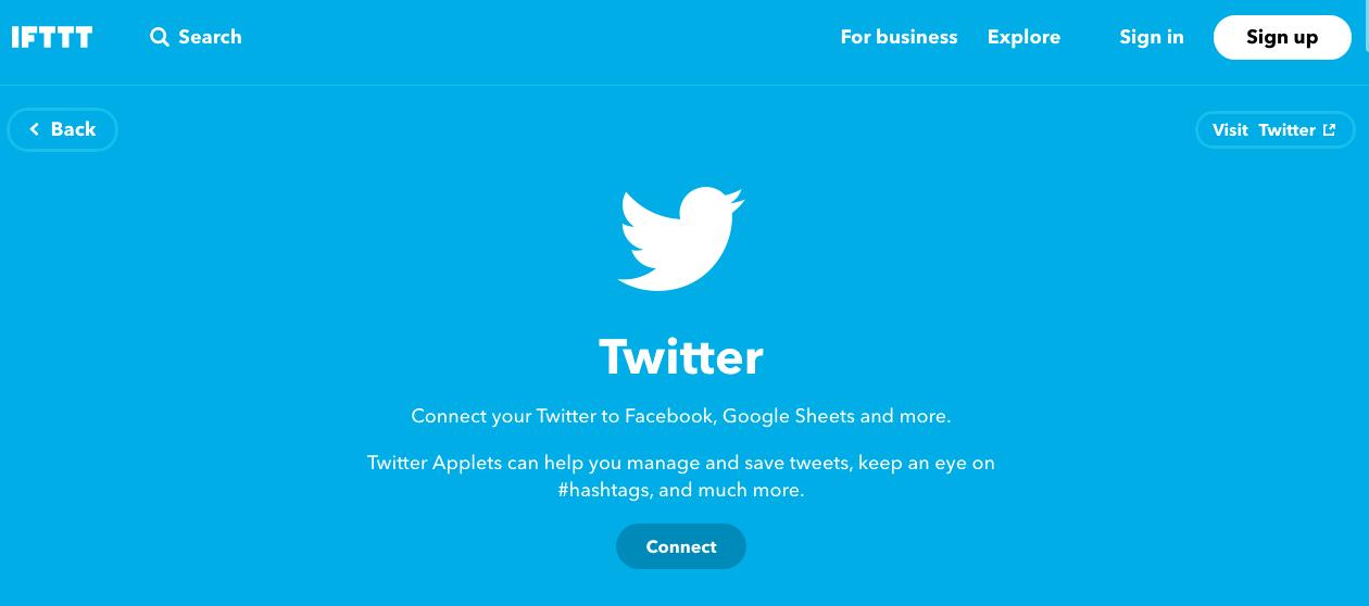 IFTTT for Twitter