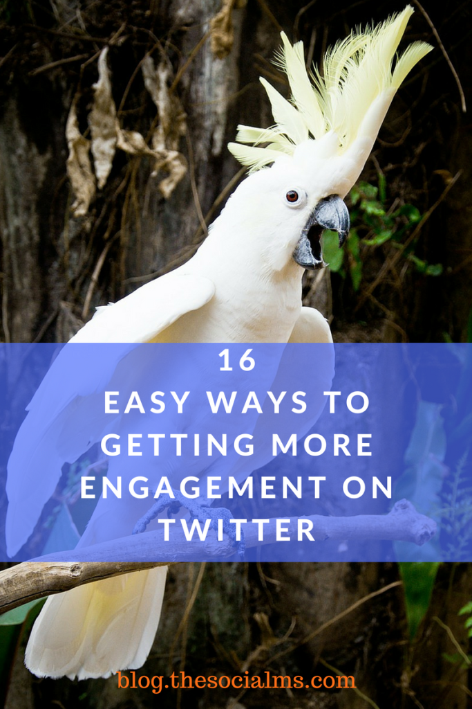 Engagement is crucial for online marketing success. Here are 16 ways of getting more engagement on Twitter that help you build trust and loyalty.