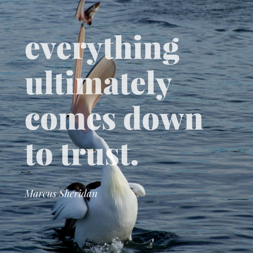 everything ultimately comes down to trust.