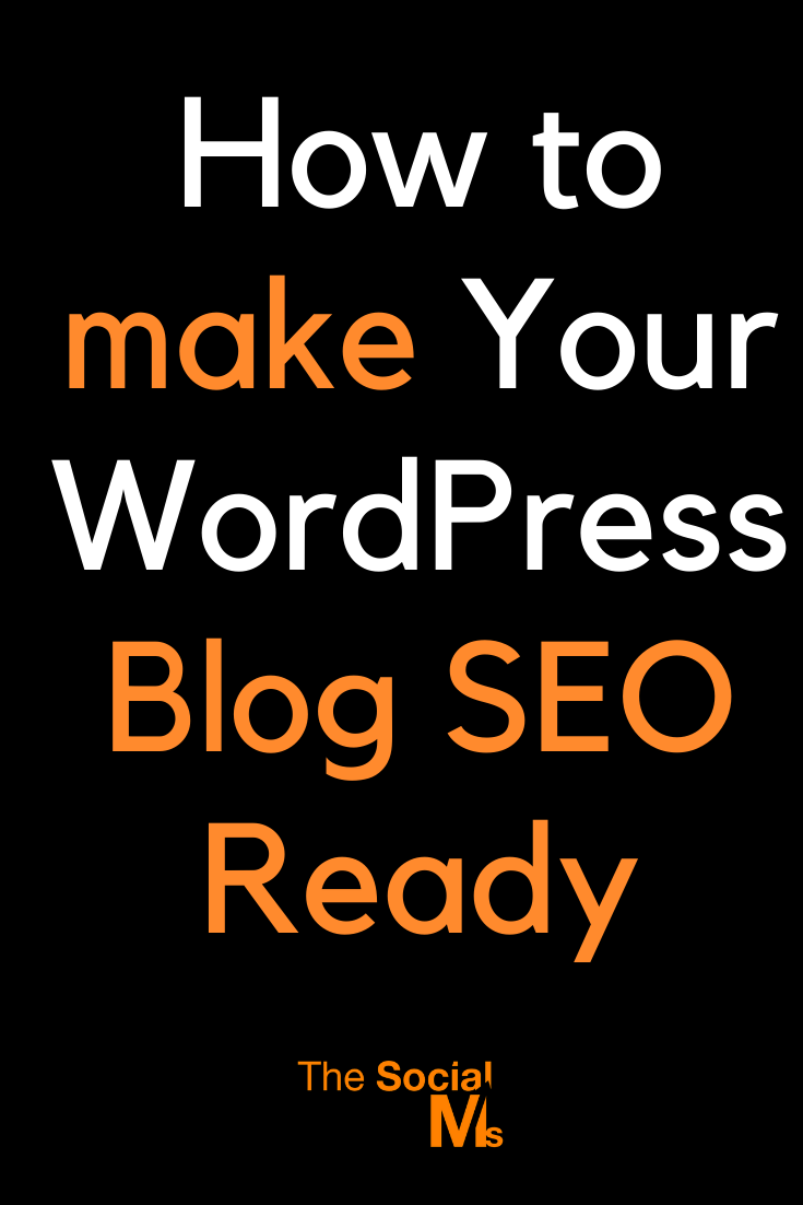 Is your blog really ready for SEO? Sure, you are running WordPress - but did you install all the stuff you need for SEO? All the plugins, online tools, and site upgrades? #seo #blogtraffic #trafficgeneration #googletraffic
