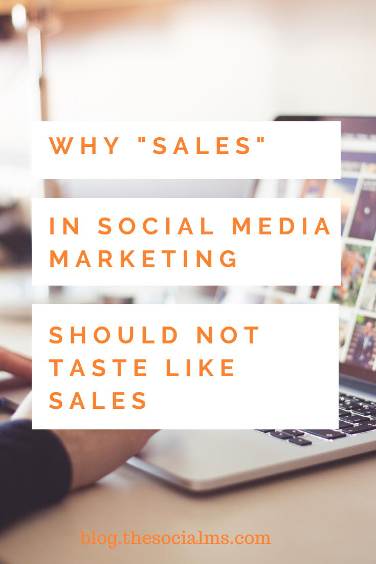 the secret to social media marketing success is to let it be part of the sales process without making it taste and smell like sales. Here is how to make more sales through social media #socialmedia #socialselling makemoneyblogging #bloggingformoney