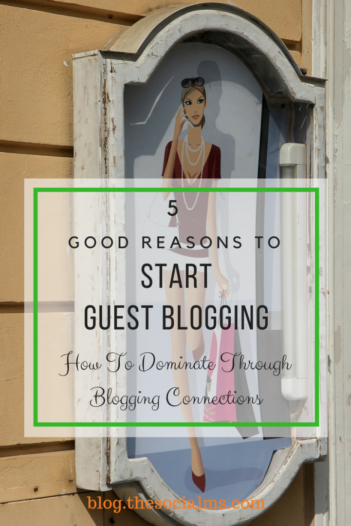 Here are 5 great reasons to start guest blogging. Decide why what you want to achieve and optimize your posts and everything around them for your goals.