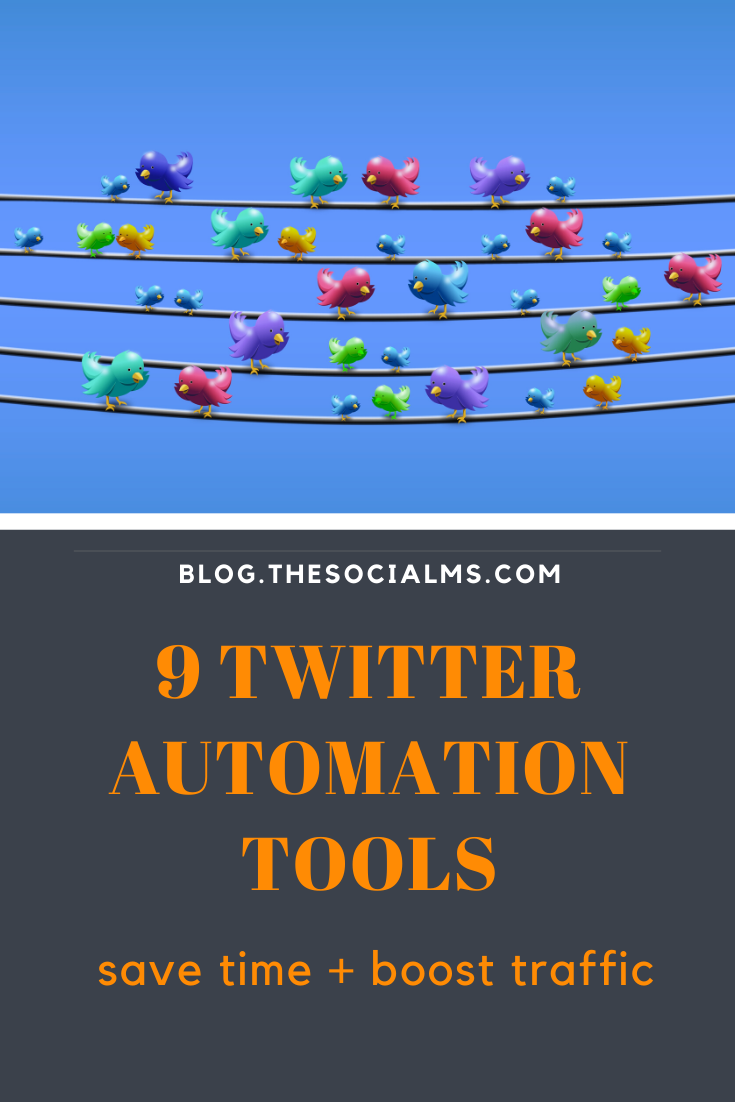 Here are 9 tools to help you master all your Twitter tasks and free up your time and help you to drive more traffic to your blog. #twitter #twittertips #twittermarketing #twitterautomation #socialmedia #socialmediatips #socialmediamarketing #marketingautomation #socialmediaautomation