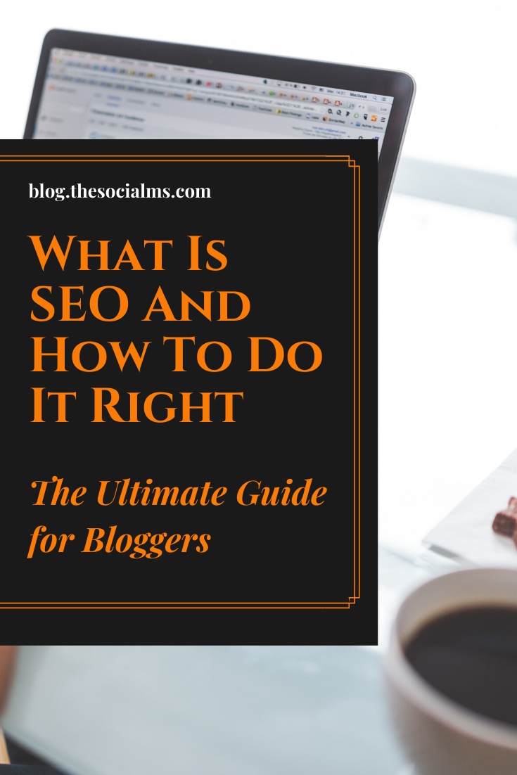 Especially for bloggers, SEO is a very important tool - but also one that needs to be treated with care.  Let's dive in and learnthe basics of SEO first. #seo #seotips #seomarketing #searchtraffic #seoforbloggers #bloggingforbeginners #blogging101 #bloggingtips