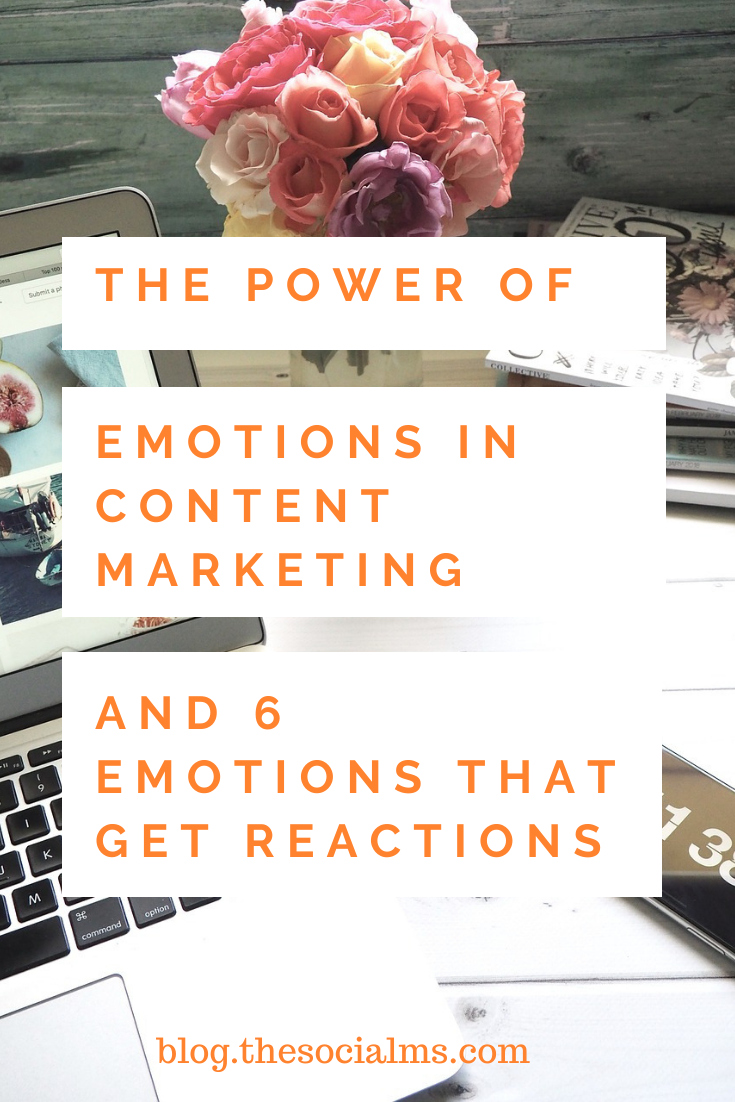 Content that inspires emotion has power for marketing. These 6 emotions will give you reactions. #contentmarketing #contentcreation #viralcontent