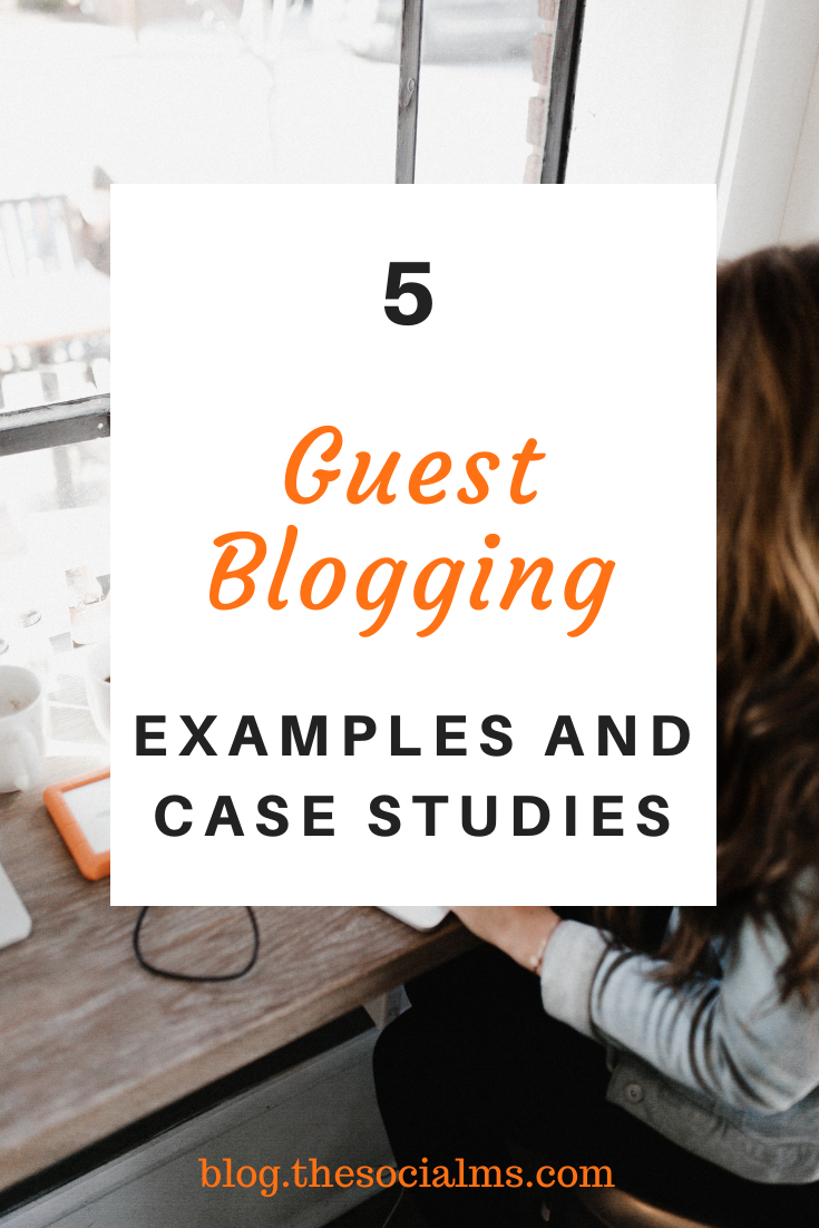 never look at guest blogging as a cheap chance for SEO link building. These guest blogging examples show you how much more you can achieve with guest posting. #guestblogging #guestposting #bloggingtips #bloggingforbeginners #startablog