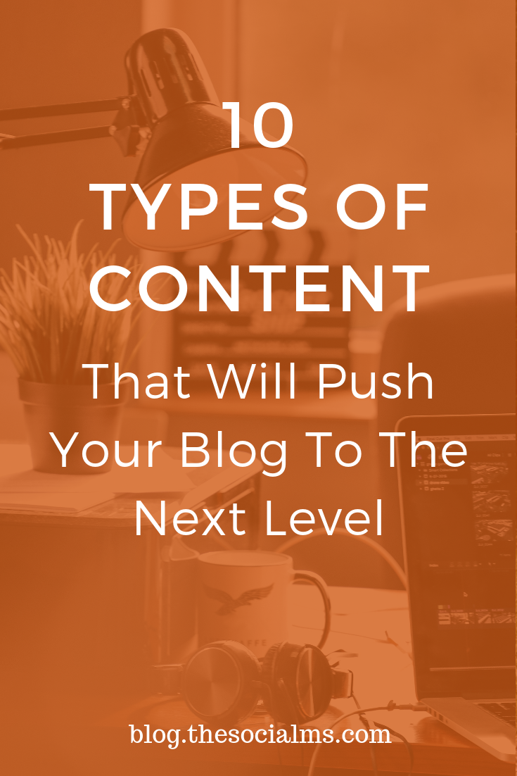 Content plays an important part in digital marketing success. Here are 10 types of content have some hidden power for you to unleash. Various content types simply give you better results from blog post promotion - and add additional marketing and distribution options. #bloggingtips #blogcontent #contentcreation #startablog #bloggingforbeginners