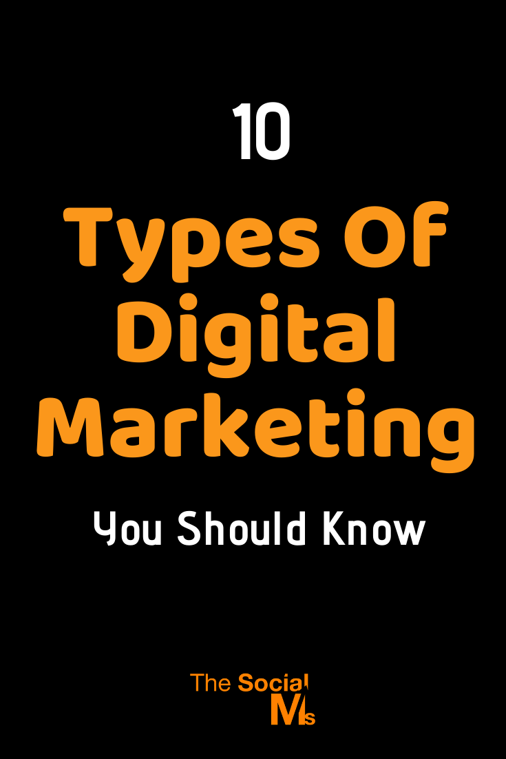 "To give you a thorough understanding of what the term ""Digital marketing"" includes, here are the 10 most important types of digital marketing. And you should make sure that you know about all of them before you decide what types of marketing you are going to include in your digital marketing strategy. #digitalmarketing #onlinemarketing #marketingstrategy #smallbusinessmarketing"