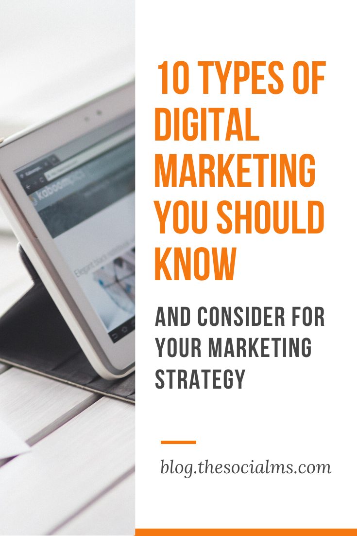 if you want to decide on your digital marketing strategy, you should be aware of these 10 types of digital marketing – and choose the ones that you believe are best suited for your purposes. #digitalmarketing #digitalstrategy #onlinebusiness #onlinemarketing #marketingstrategy #smallbusinessmarketing #startupmarketing