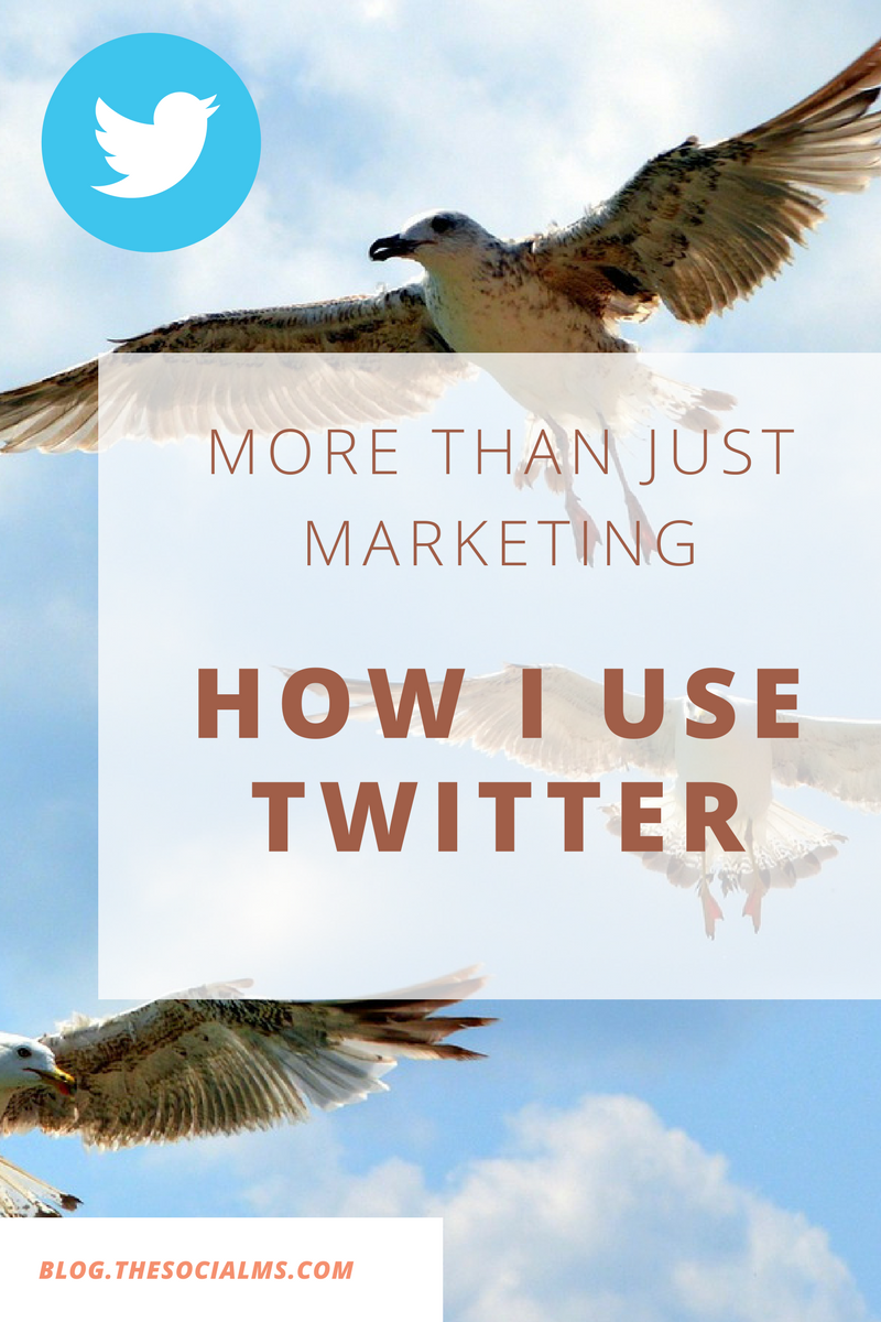 Twitter is great for marketing - no question about that. But Twitter is great for so much more. And here is how I use Twitter and you can use it too!