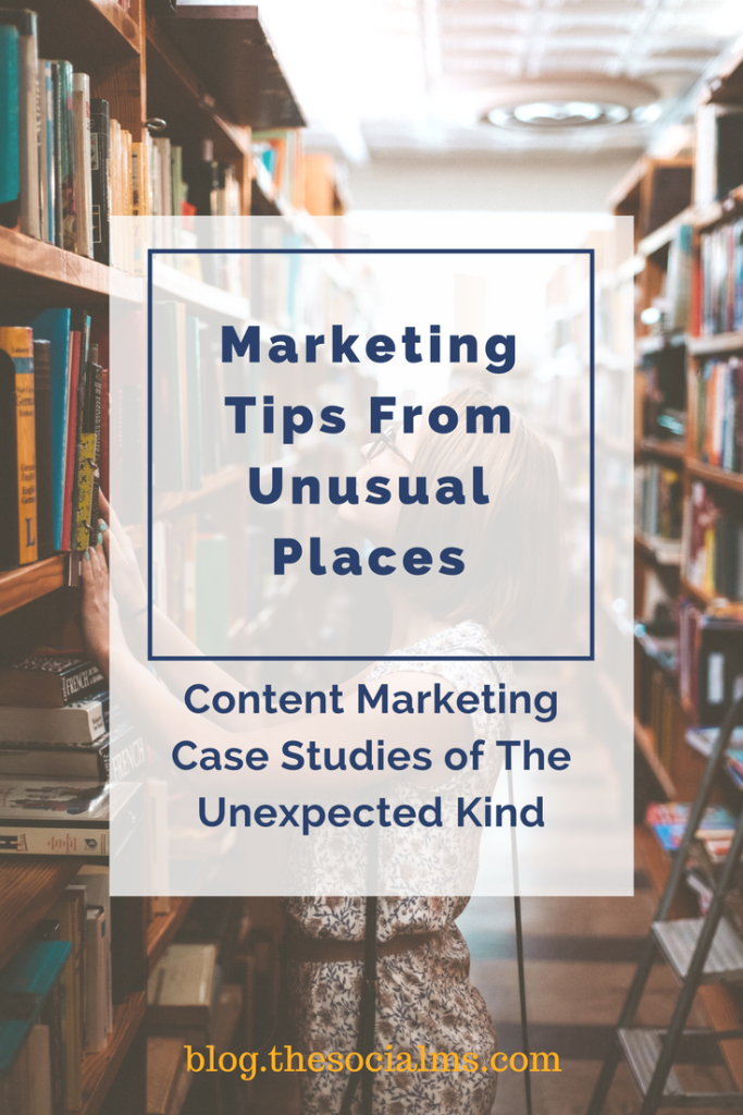 If you're looking for some new approaches to your content marketing strategies here are three strange, but relevant, content marketing case studies.