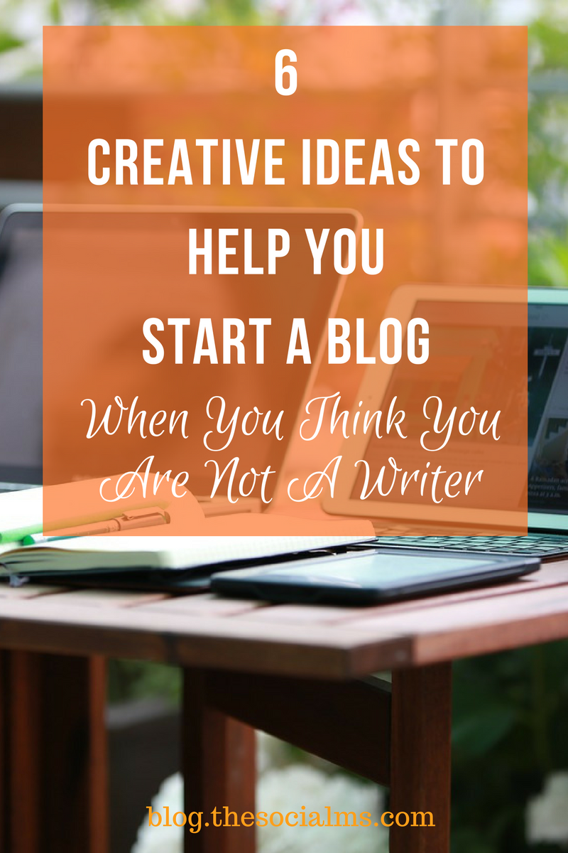 If you want to go for online marketing success, you should start a blog. And you don't need to be the best of writers to be a successful blogger.