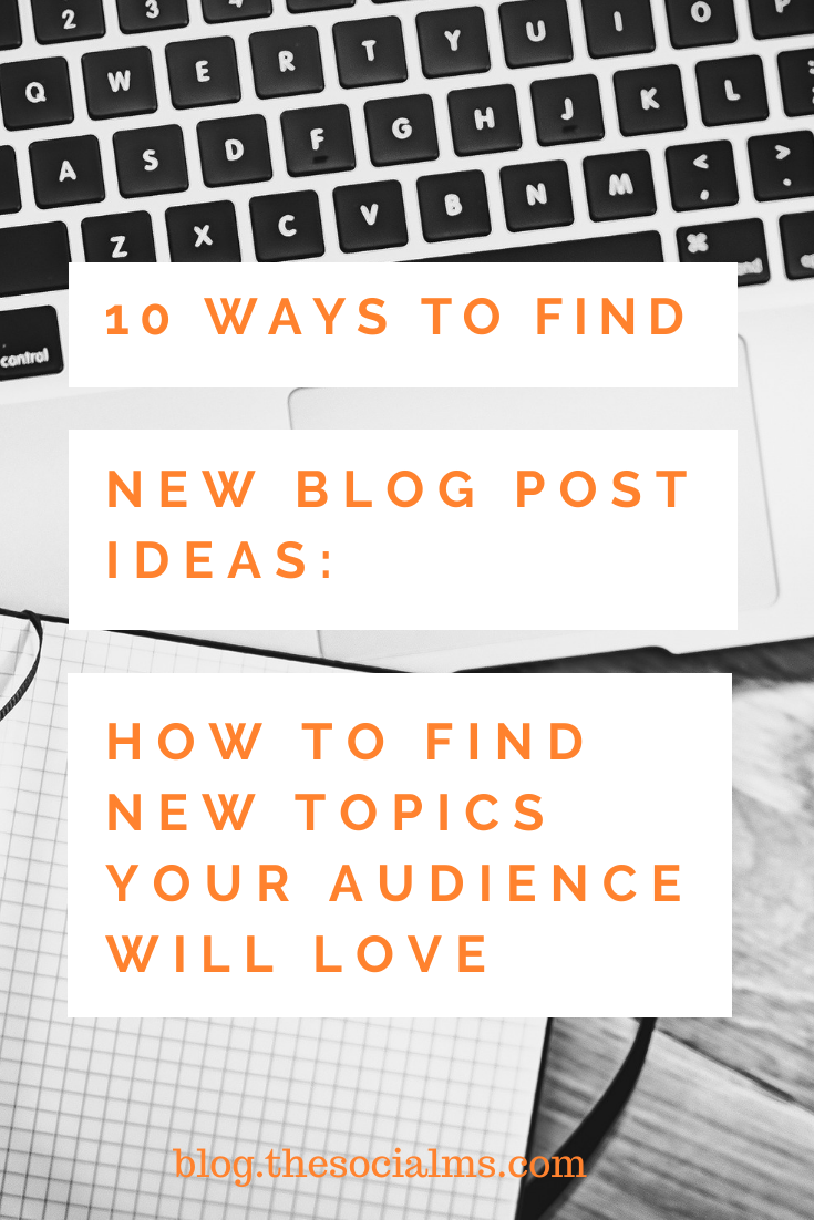 Bloggers need an endless stream of blog post ideas. When you are running our of ideas: Here are 10 tips where you can find new blog post ideas #blogpostideas #bloggingtips #bloggingforbeginners #startablog #bloggingsuccess #blogposts