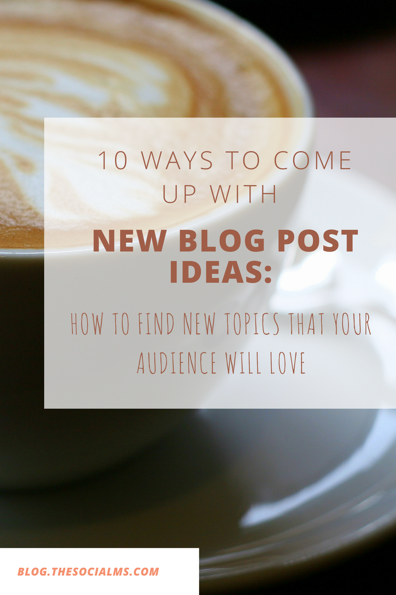 Are you stuck? The harder you try to come up with blog post ideas – the less creative your feel. Here are 10 creative ideas to find new blog post ideas.